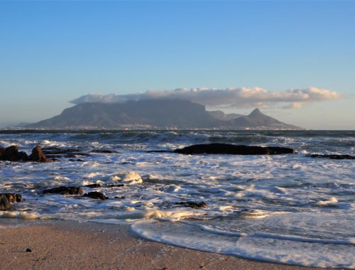 Iconic Table Mountain in Cape Town, South Africa