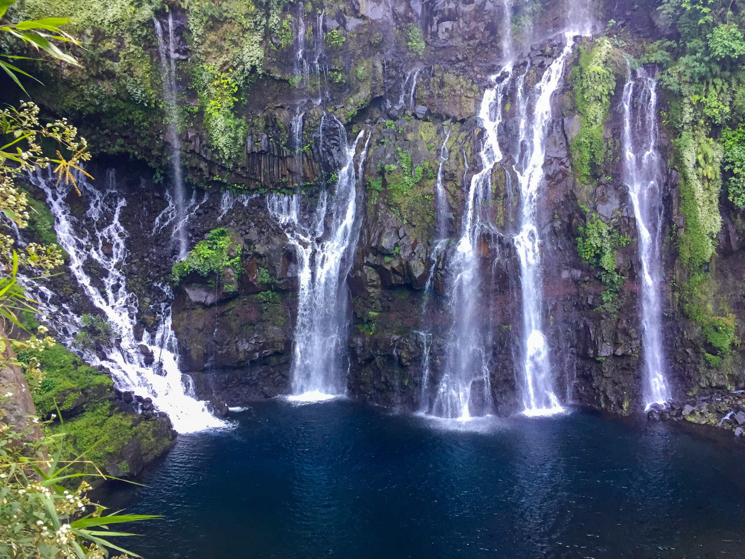 The magnifivent Grand Galet Falls on Reunion Island.. Di Brown