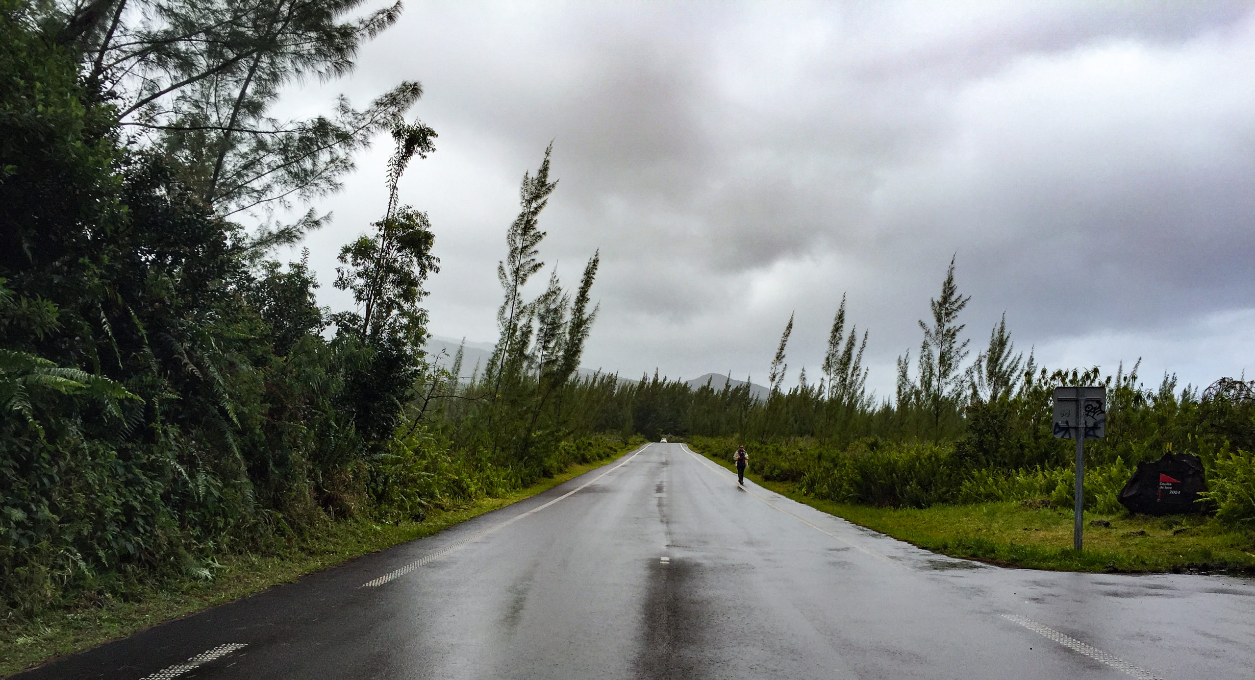 Reunion Island, Lava Road. Di Brown