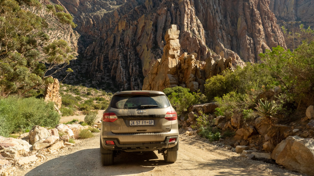 The Ford Everest Sport on the Swartberg Pass